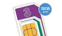 12GB Three SIM for £8 a month