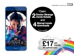 Free data, free Dr Strange cinema tickets and Marvel movies with the Honor 8